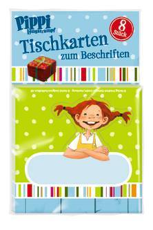 tischkarten pippi langstrumpf astrid lindgren oetinger kinderbuch kinderb cher. Black Bedroom Furniture Sets. Home Design Ideas